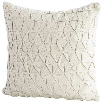Grand IIusion Decorative Cotton Throw Pillow Color: Off White