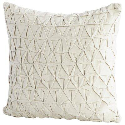 Grand IIusion Decorative Cotton Throw Pillow Color: Off White