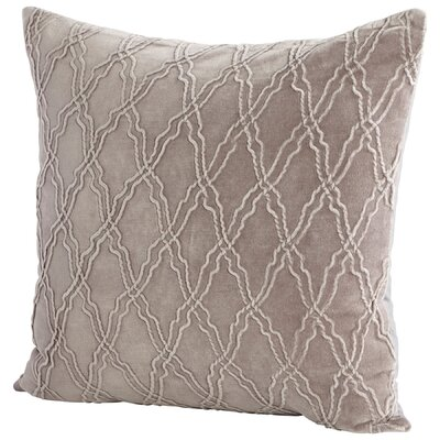 Rivori Decorative Cotton Throw Pillow Color: Beige