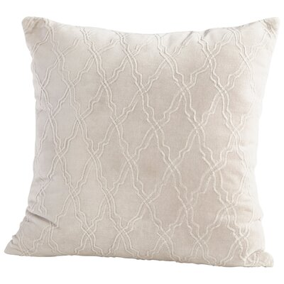 Rivori Decorative Cotton Throw Pillow Color: Ivory