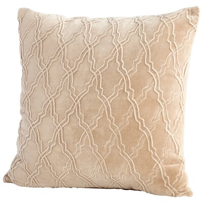 Rivori Decorative Cotton Throw Pillow Color: Tan