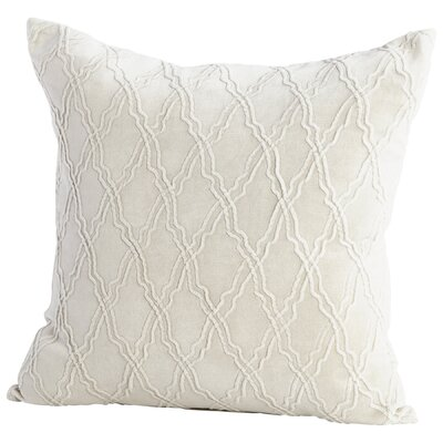 Rivori Decorative Cotton Throw Pillow Color: White