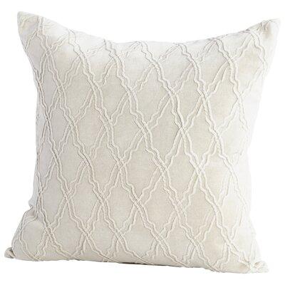 Rivori Decorative Cotton Throw Pillow Color: White