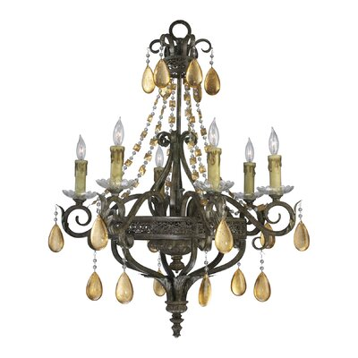 Dorato 6-Light Crystal Chandelier