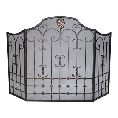 No credit financing 3 Panel Iron Fireplace Screen...