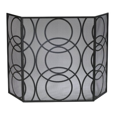 No credit check financing Orb 3 Panel Iron Fireplace Screen...
