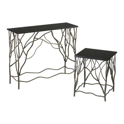 Cheap Cyan Design Appalachian Console Table in Silver and Black (VYQ1275)