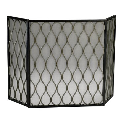 Easy financing Gold Mesh 3 Panel Iron Fire Screen...