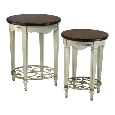 Cheap Cyan Design Round Ellen Table in Distressed White and Ebony (VYQ1778)