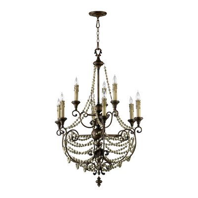 Meriel 9-Light Candle-Style Chandelier