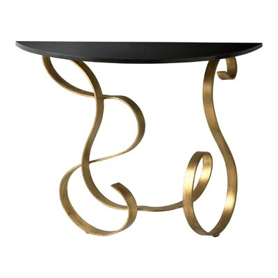 Cheap Cyan Design Ribbon Console Table in Black and Gold (VYQ1980)