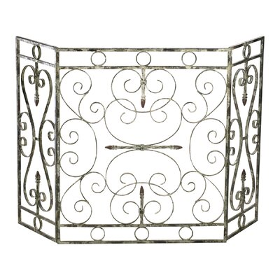 In store financing Crawford 3 Panel Iron Fireplace Scr...