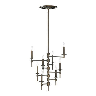 Omega 8-Light Candle-Style Chandelier