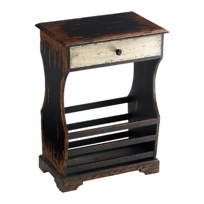 Cheap Cyan Design Antique Magazine Table in Distressed Ebony (VYQ2246)