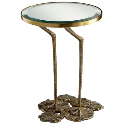 Struz End Table Base Color: Brass