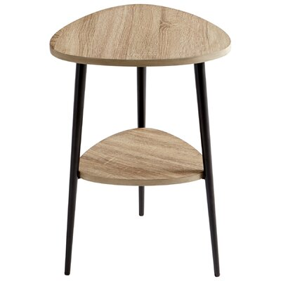 Moon Shot End Table Size: 25.75 H X 18.25 W X 17.75 D