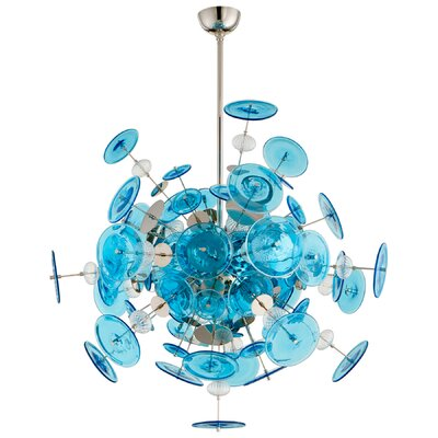 Avi 14-Light Geometric Pendant Shade Color: Chrome
