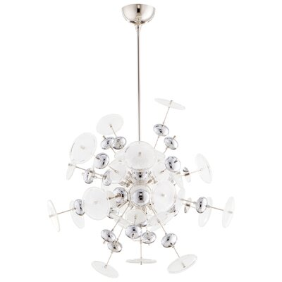 Avi 10-Light Geometric Pendant Shade Color: Chrome