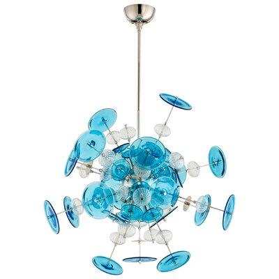 Avi 10-Light Geometric Pendant Shade Color: Blue