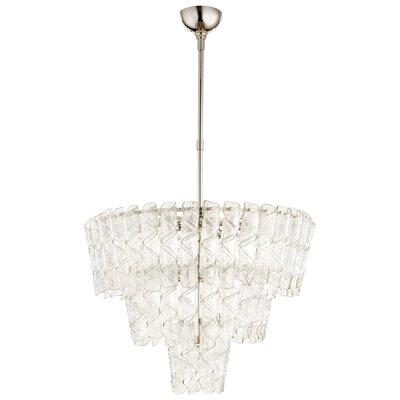 Cannoli Crystal Chandelier Size: 26 H x 27.25 W x 27.25 D