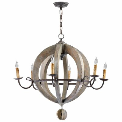 Barrel 6-Light Candle-Style Chandelier