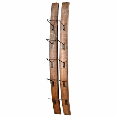 Small Fresno 5 Bottle Wall Mounted Wine Rack