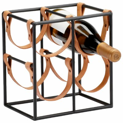 Small Brighton 4 Bottle Tabletop Wine Rack