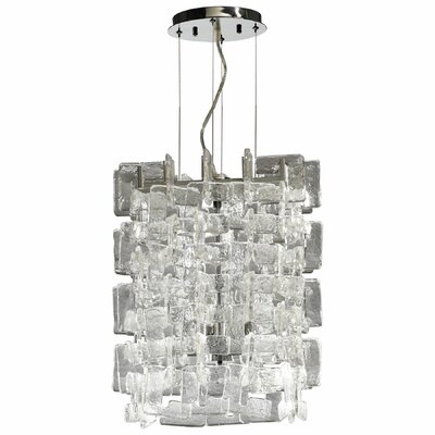 Havilland 4-Light Inverted Pendant Finish: Clear/Chrome
