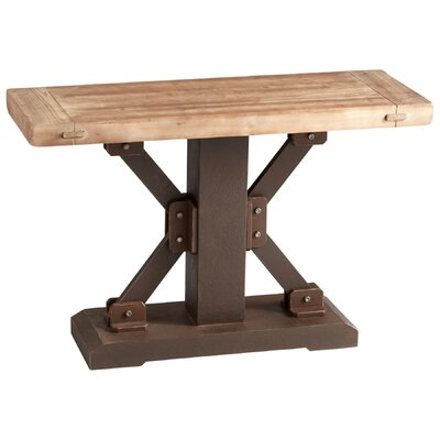 Cheap Cyan Design Kern Table in Raw Iron / Natural Wood (VYQ3325)