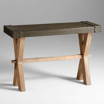 Image of Cyan Design Mesa Console in Raw Iron and Natural Wood (VYQ3022)