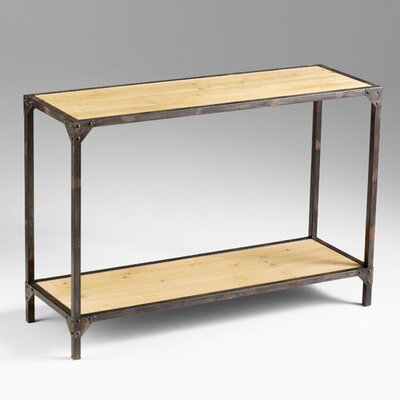 Image of Cyan Design Prairie Console in Raw Iron / Natural Wood (VYQ2946)