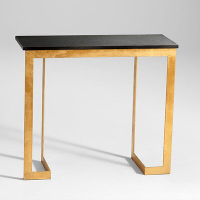 Dante Console Table in Gold and Black