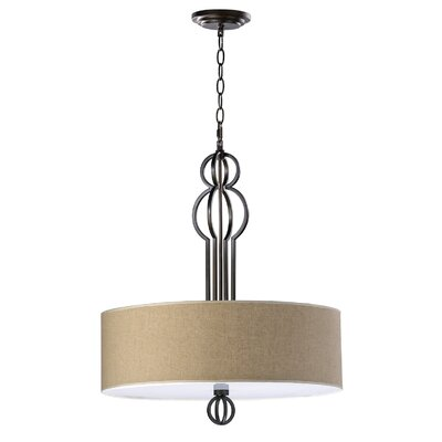 4-Light Drum Pendant Finish: Oiled Bronze
