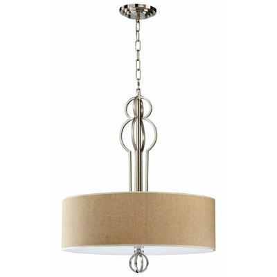 4-Light Drum Pendant Finish: Satin Nickel