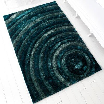 Girare Arte Blue Rug Rug Size: 5 x 76