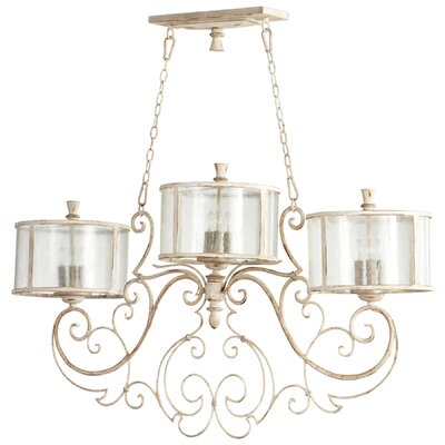 Florine Island 9-Light Shaded Chandelier