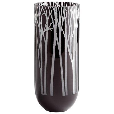 Obsidian Forest Vase Size: Medium