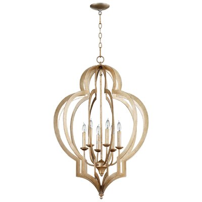 Vertigo 6-Light Foyer Pendant Finish: Silver Leaf