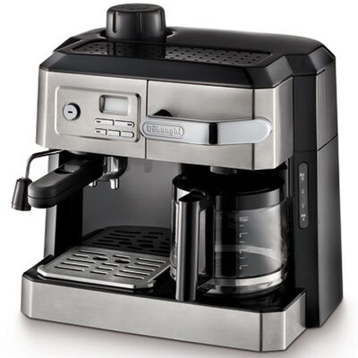 DeLonghi BCO330T Combination Drip Coffee, Cappucino and Espresso Machine with Programmable Timer - Stainless Steel 14660978