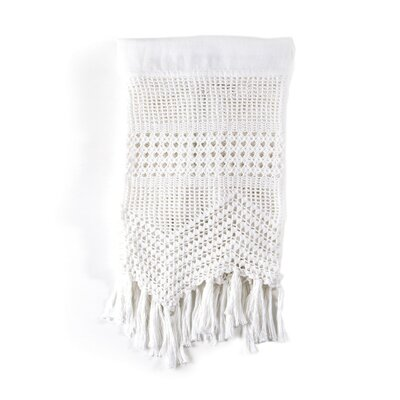 Vintage Crochet Pillow Case Size: King, Color: White