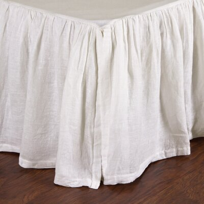 Linen Voile Bed Skirt Color: Cream, Size: Queen
