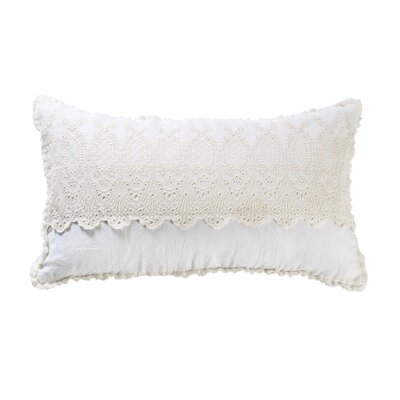Annabelle Linen Pillow Cover Color: Cream