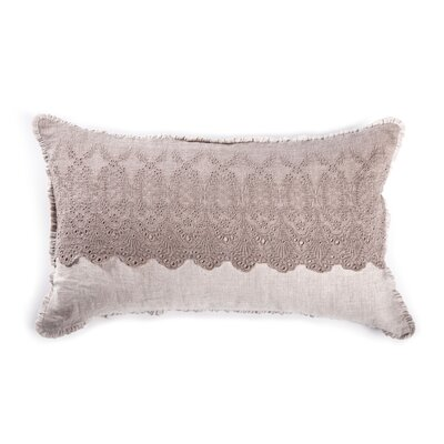 Annabelle Linen Pillow Cover Color: Flax