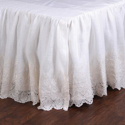 Annabelle Bed Skirt Size: King, Color: Cream