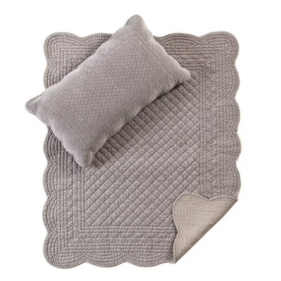 Juliet Baby Crib Coverlet Color: Taupe