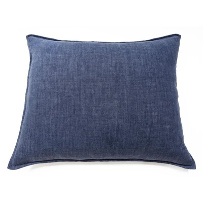 Montauk Linen Lumbar Pillow Color: Indigo