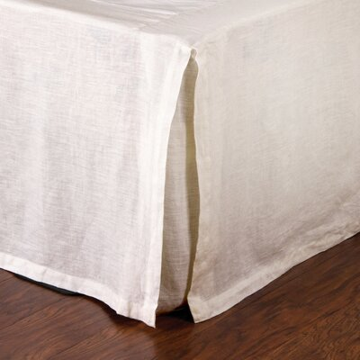 Pleated Linen Bed Skirt Size: King, Color: Cream