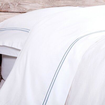 Cotton Pillow Case Size: King, Color: Ocean