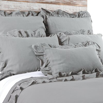 Charlie Duvet Size: Queen, Color: Gray Stone