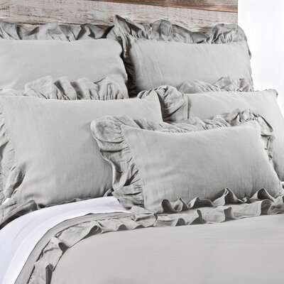 Charlie Duvet Color: Silver, Size: Queen